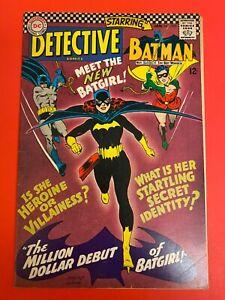 Detective comics #359 VF+ Unrestored, 1st appearance of New Batgirl