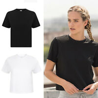 SF Women's Cropped Stretched Boxy Tee (SK237) - Ladies Casual Sports T-shirt
