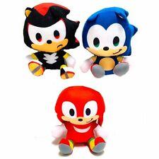 SET Sonic the Hedgehog Shadow Knuckles Plush Stuffed Figure Doll Kids Toy Gift