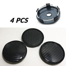 4PCS/Set 60mm/58mm Car SUV Wheel Center Hub Caps Cover Carbon Fiber Surface