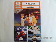 CARTE FICHE CINEMA 1992 PORCO ROSSO