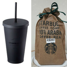 Starbucks Korea Matt Black Flat Cold Cup Coffee Collectible Tumbler 473ml / 16oz