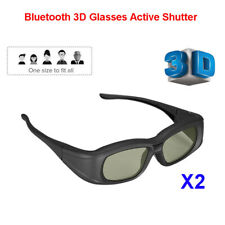 2X Bluetooth 3D Glasses Active Rechargeable 3D LCD For Sony Samsung Panasonic TV