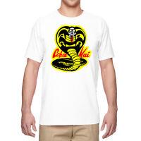 Men T-Shirts Cobra Kai Karate Graphic Shirt Cotton Short Sleeve Tops Tee Shirts