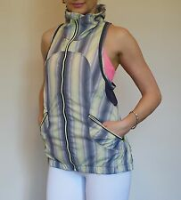 EUC* (Used 1x)  Lululemon Size 6 Vest Gray And Yellow Vertical Stripes