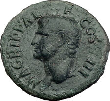 Marcus Vipsanius Agrippa Augustus General Ancient Roman Coin by CALIGULA i64870