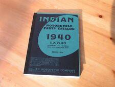 Indian Motorcycle Parts Catalog 1936 - 1940  Ersatzteilliste für alle Modelle