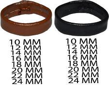 Real Leather Watch Strap Keeper Hoop Loop Holder Band Buckle Retainer Ring Uk