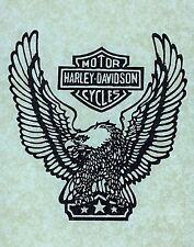 "Original ""Harley-Davidson Motor Cycles"" Iron On Transfer"