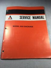 Allis Chalmers Model 650 Backhoe Service Manual