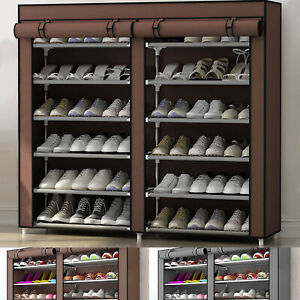 36 PAIRS 6 TIER DUSTPROOF SHOES CABINET STORAGE ORGANISER SHOE RACK STAND HOLDS