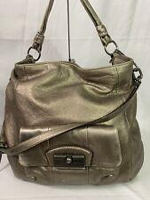 Coach Kristin Silver Leather Shoulder Bag 14769