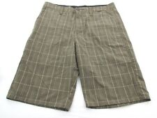 *HURLEY* SIZE 30 MEN'S PLAID PRINT CASUAL SHORTS W/SIDE POCKETS