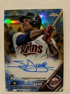 2016 Topps Chrome Miguel Sano Rookie Auto Blue Refractor #08/150 #RA-MS TWINS!🔥