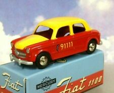 HACHETTE DIECAST MERCURY TOYS COLLECTION NUOVA FIAT 1100 BERN TAXI RED & YELLOW
