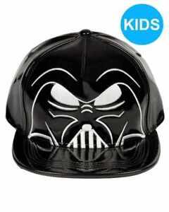 STAR WARS DARTH VADER MASK/ HELMET PU BLACK SNAPBACK CAP [KIDS] [OFFICIAL]