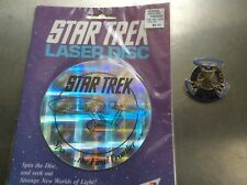 Star Trek 25Th Anniversary Commemorative Pin & Laser Disc Space Final Frontier