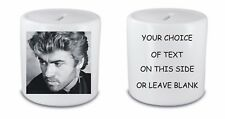 GEORGE MICHAEL MONEY BOX / PIGGY BANK ANY NAME OR TEXT PRINTED FAST POSTAGE