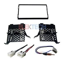 Radio Replacement Dash Mount Install Kit 2-DIN w/Harness & Antenna for Nissan