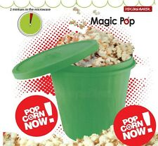Magic Silicone Microwave Corn Popcorn Maker Kitchen Container Cooking Tool Green
