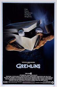 Gremlins 1984 Retro Movie Poster Print A0-A1-A2-A3-A4-A5-A6-MAXI 591