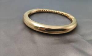 David Yurman 18K Gold Bracelet Fine Jewelry with box