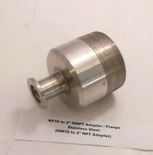 "KF16 to 2"" MNPT Adapter / Flange - Stainless Steel - (NW16 to 2"" NPT Adapter)"