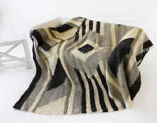 Pure Wool Blanket Woven Bed Sofa Throw Blanket Natural Color Handmade Blanket