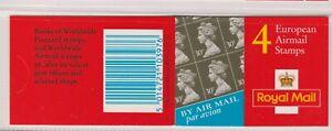 GGA1  4 x 30p European Airmail CYL W2 Row 2, 9mm band, Good Perfs