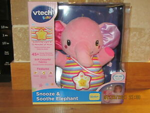 VTech Snooze & Soothe Elephant New and Unused in pink