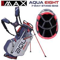 Big Max Aqua EIGHT Waterproof 7-WAY Golf Stand Bag Silver/Navy/Red - NEW! 2021