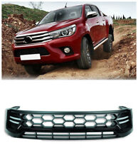 Black Front Bumper Vent Hood Grille Grill With Led Lamp For Toyota Hilux 2015-17