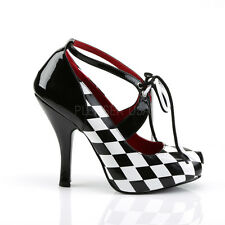 Harley Quinn Costume Cosplay Pin-up Retro Vintage Checker Shoes