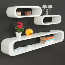 Wall Shelf Retro Vintage Cube Wall Mounted Floating Bookcase Rack Display White