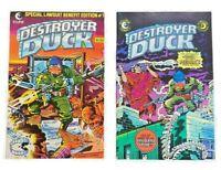 Destroyer Duck Comics #1 & 2 - 1st Groo the Wanderer - Eclipse Comics 1982