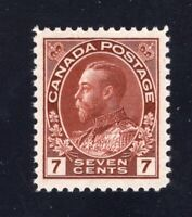 Canada 1924 Sc #114b 7c red brown Admiral Mint VF NH