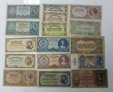 More details for hungary wwii & inflation issues fantastic collection of 16 different banknotes
