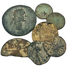 Authentic Ancient & Medieval Brass Coins - European Metal Detector Finds - Old