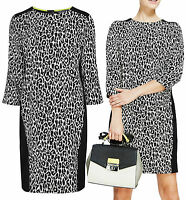 New Marks and Spencer 8 - 20 Leopard animal Print Black White Shift Dress Tunic