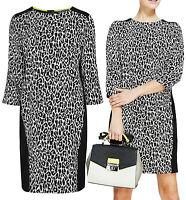 New Marks and Spencer 8 - 20 Leopard animal Print Black White Shift Dress Tunic