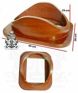 """Base 18"""" Divers Helmet U.S. Navy Mark V Diving Helmet Rosewood Wooden Base Gift"""