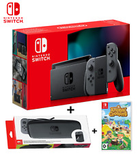 Nintendo Switch Console V2 32 GB Gray + Animal Crossing &Official Case Brand New