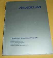 Vintage 1985 MAXIM CMOS Data Acquisition Products Catalog-Printed in Italy