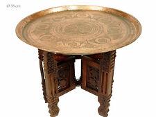60 Ø antik orient osmanische Kupfer beisteltisch Tablett teetisch teatable 16-28