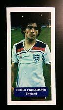 Inglaterra-Napoli-Diego Maradona década Puntuación Tarjeta De Comercio De Fútbol UK