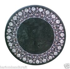 """24""""x24"""" Marble Coffee Table Top Marquetry Mother Of Pearl Ornate Decor Art H1462"""