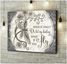 Dragonfly What It Fall What If You Fly Satin Landscape Canvas 0.75In