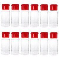 12 Pcs En Plastique ÉPice Sel Poivre Shakers Assaisonnement Bocal Peut Barb L6A5