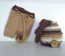 Crochet Baby Cap Bow Diaper Costume Newborn Knitted Photography Hat +pants 1167