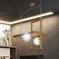 lampadario sospensione moderno 2 luci regolabile sfere in vetro soffiato bianco
